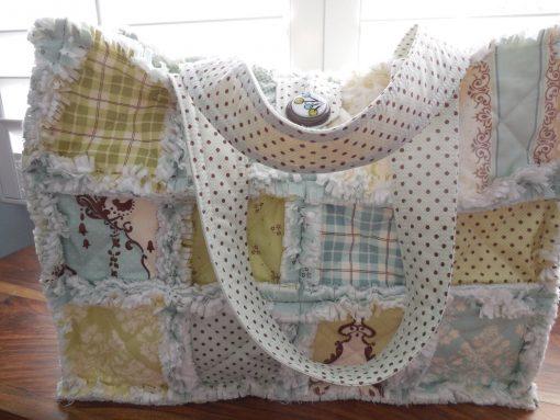 Quilted Carry-On Bag~Large Diaper Bag~Over Nite Bag~Knitting/Crochet Project Bag~Spa Bag~Work-Out Bag~Market Bag~Dog Carrier Bag~Sewing Bag