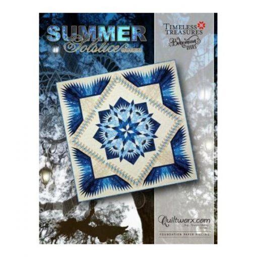 "Summer Solstice Queen Quilt Pattern 99"" X 99""~Foundation Paper Piecing By Judy Niemeyer Of Quiltworx"