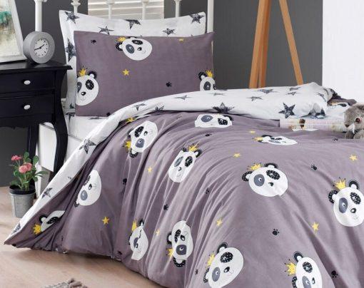 Pure Organic Cotton Kids Panda Bedding Set/Twin - Single Size Boys Duvet Cover Quilt Boy Birthday Gift