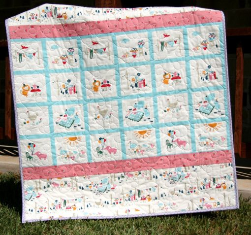 Last One Sale Personalized Baby Gift Handmade Quilt Organic Crib Blanket Custom Nursery Bedding Pink Girl Everyday Party Monogrammed Name