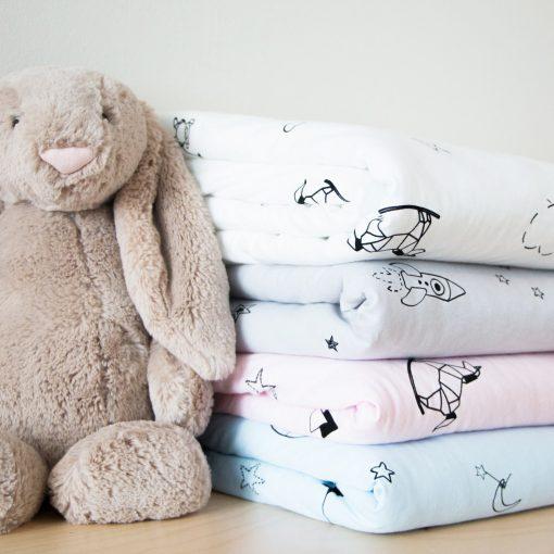 Baby Quilt Blanket, Toddler Comforter, Crib Organic Blanket Cotton Blankets For Boys & Girls