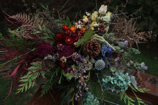Dried Flower Bouquet, Rainbow Bridal Flowers, Elope, Seattle Wedding, Wedding