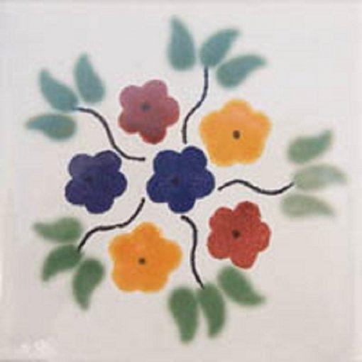 80 4x4 Mexican Talavera Ceramic Tiles -Buquete