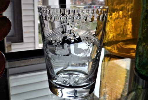 William Yeoward Honesty Loving Cup Hand Made Cut Vintage Crystal Old Fashioned Glass Free Shipping