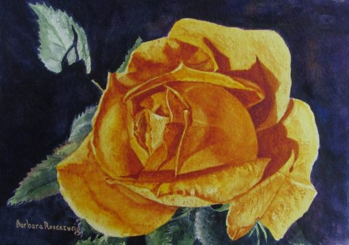 Yellow Rose Painting, Flower Wall Art, Watercolor, Home Decor, Canvas Print