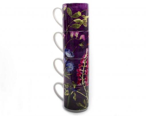 Purple Whisper - Stacking Mugs Perfect Family Gift Set Christmas Mother's Day