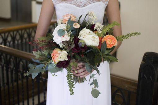 Wedding Bouquet, Burgundy, Peonies, Boho Rose Garden Fresh Brides Bride Maid Bouque