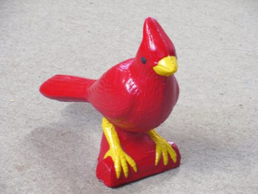Cardinal, Cardinal Statue, Birds, Bird Hand Painted Cement Garden Decor, Mantle Decorations, Christmas Decor