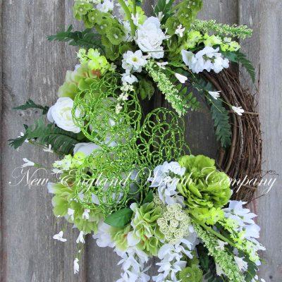 st Patrick's Day Wreath, Elegant Pat's Irish Shamrock Spring Floral Bells Of Ireland, Wedding