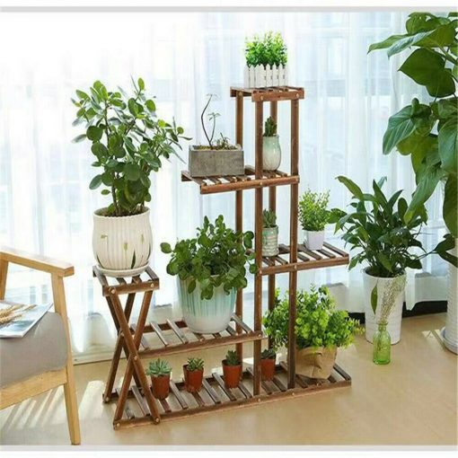 Large Exotic Wooden Plant Rack Stand Multi-Tier Holder Pot Storage Home Display Planter Gift | Fathers Day On Sale