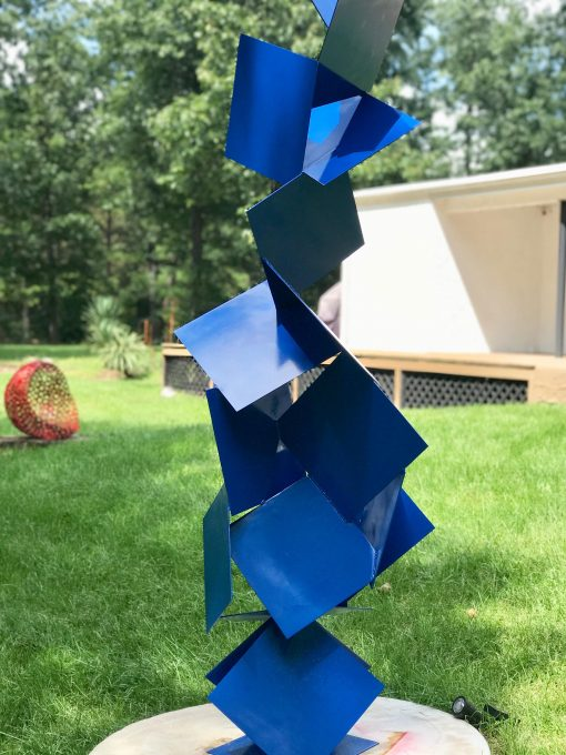 Sotto Ii, Balanced Gravity Abstract Modern Oversized Sculpture Powder Coated Steel