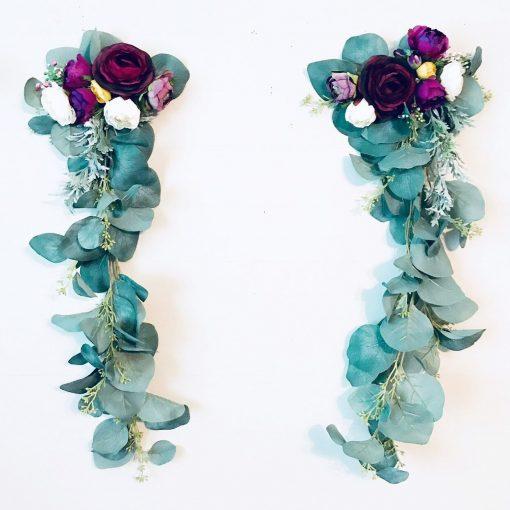 Floral Garland, Wall Hanging, Backdrop, Bohemian Decor, Purple Flower Boho Decor