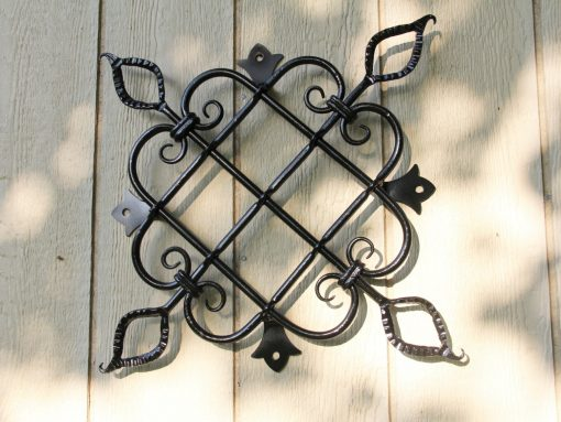 Large Scrolled Pattern Iron Speak Easy With Hot Pierced, Decorative Steel Panel