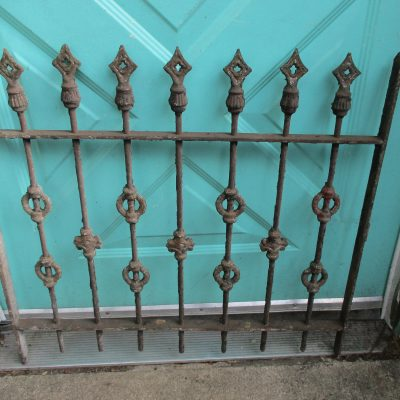 Clearance Sale Antique Ornate Iron Gate Garden Fence Gothic Arrow Points