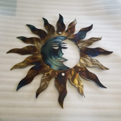 Wall Art Moon & Sun Home Decor Large Patio Garden Wall Moon, Valentine's Day Gift For Her, Steel Artwork Usa Made Design