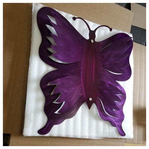 Metal Wall Butterfly Art, Modern Wall Decor Hanging 3D Sculpture Unique Gifts, Outdoor Patio & Garden Living Room Decor