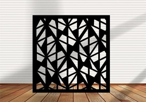 Square Metal Panel, Privacy Screen, Fence, Decorative Wall Art, Indoor & Outdoor - Sd8