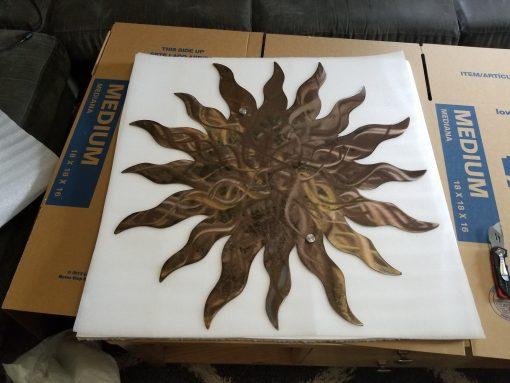 Metal Sun Wall Art - Quick Ship Many Sizes Wacky Wall Garden Outdoor Plasma Cut Steel Sun Decor Art
