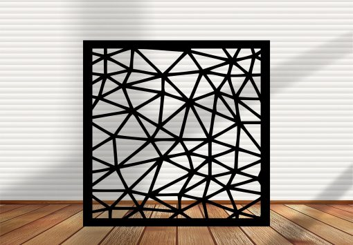 Square Metal Panel, Privacy Screen, Fence, Decorative Wall Art, Indoor & Outdoor - Sd5