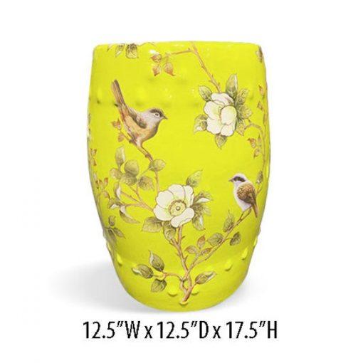 "Asian Multi Colors Garden Stool 17.5"" Height"
