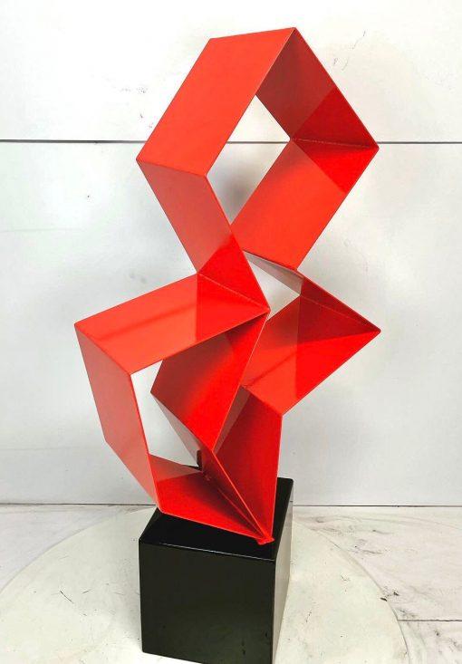 Purity Modern Steel Abstract Outdoor/Indoor Sculpture Metal Named Powder Coated Glossy Red Black Corten Steel