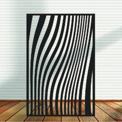 Metal Panel, Privacy Screen, Fence, Decorative Wall Art, Garden Indoor & Outdoor - Abstracts N Waves 2