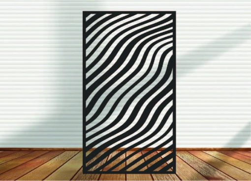 Metal Panel, Privacy Screen, Fence, Decorative Wall Art, Garden Indoor & Outdoor - Abstracts N Waves 11