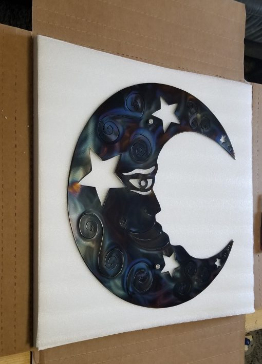 Metal Wall Art Moon/Home Decor Steel & Stars Plasma Cut Garden Decoration Abstract Mothers Day Gift For Her