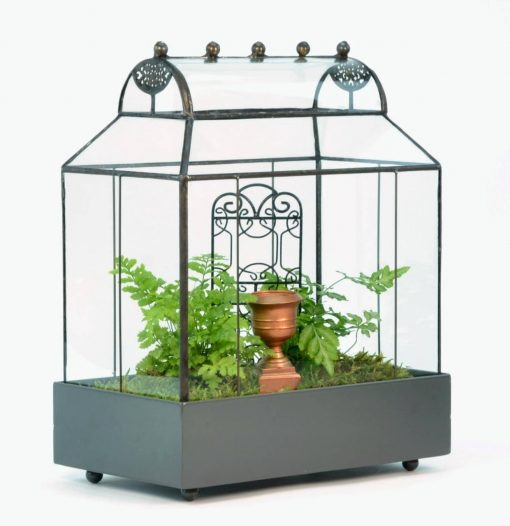 H Potter Terrarium Large Glass Planter Container Curved Roof Wardian Case Fairy Garden, Plant Box Gift, Kid Project, Wedding Centerpiece