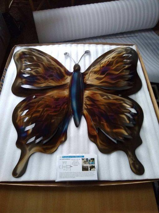 Metal Garden Sculpture Butterfly Etsy Handmade Wall Decor, Outdoor Patio Decor 3D Plasma Cut Design, Home & Living Room