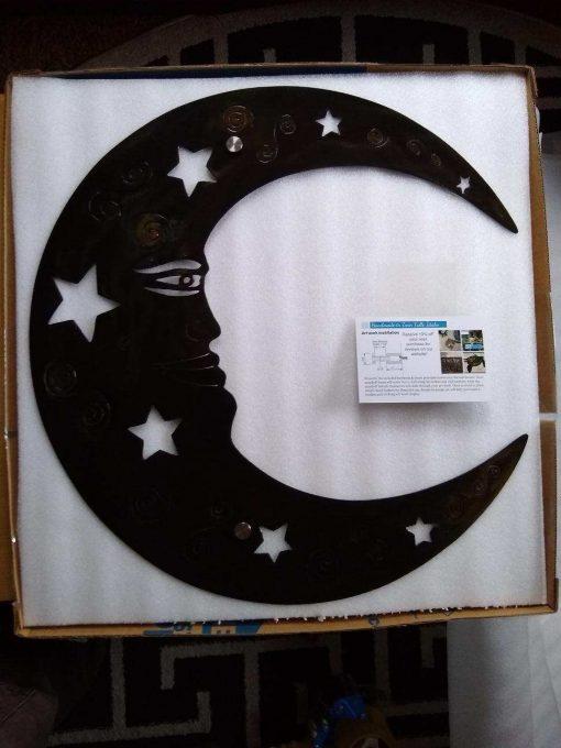 Metal Wall Art Moon Celestial Patio Decor Etsy Handmade Metal Moon & Stars Wall Outdoor Garden Office Mothers Day Gift