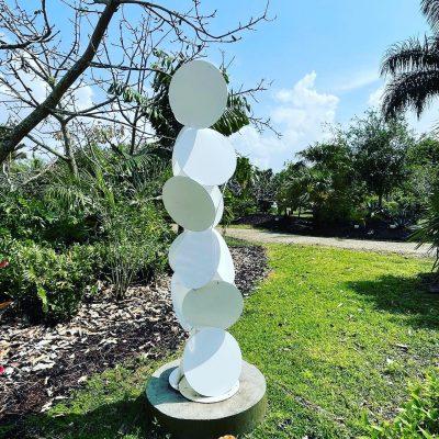 Ottava Tall Abstract Garden Sculpture Art