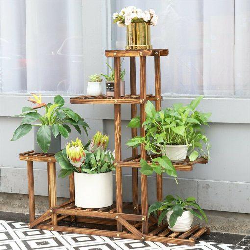 Frame Plant Shelf, Rack Shelves, Pot Display Wooden, Flower Corner Gardening Furniture Indoor | Fathers Day Gift On Sale