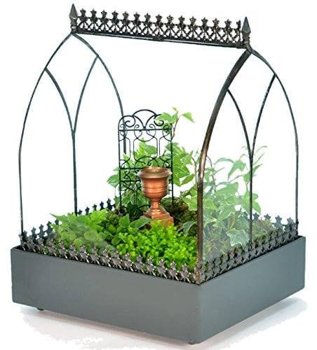 H Potter Terrarium, Glass Wardian Case, Succulent Plant Container, Wedding Centerpiece, Fairy Garden, Holiday Gift, Miniature Glasshouse