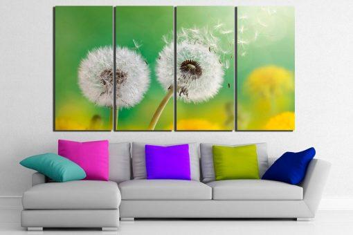 Dandelion Canvas Flower Art Nature Wall Decor Print Botanical Garden Floral Décor Poster Photography