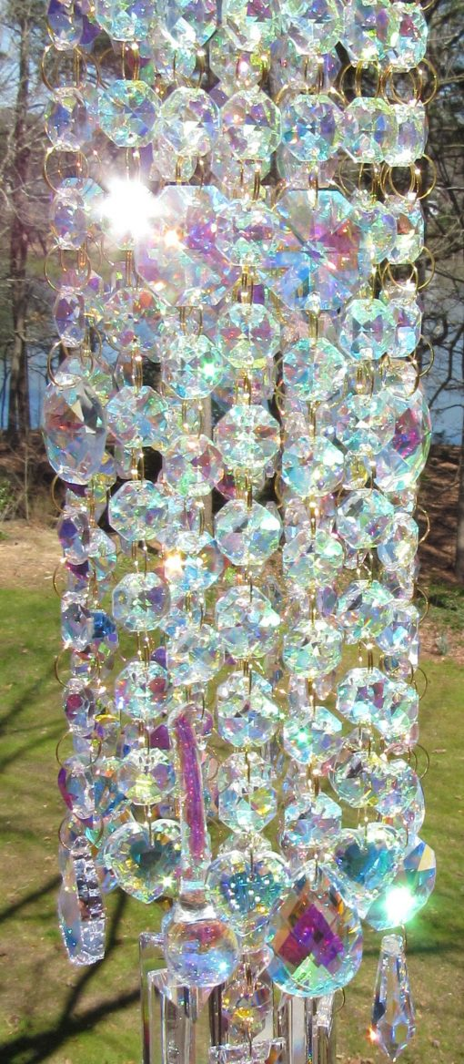 Ab Crystal Wind Chime, Chimes, Garden Gift, Patio Decor, Glass Décor, Sun Catcher, Mwc163Ab