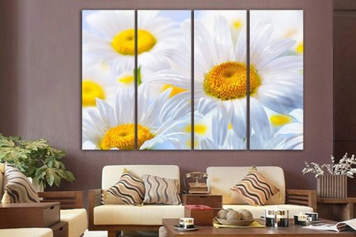 Chamomile Canvas Flower Wall Art Nature Decor Print Gift Woman Botanical Poster Garden Floral Prints White