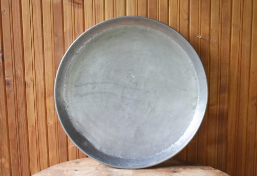 Antique Copper Tray, Copper Vintage Hand Hammered Baking Large Dark Tray, Primitive Cooking Tray