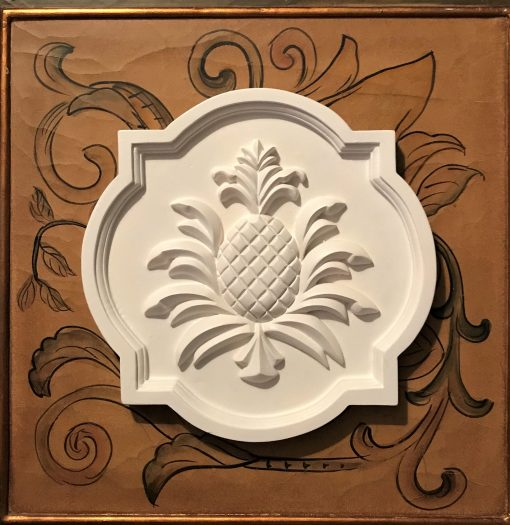 White Pineapple Decor, Plaques, Farmhouse Garden Outdoor Plaques, Home & Living, Marie Ricci