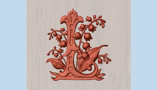"""Letter L Wooden 10"""" Custom Made To Order Capital Floral Alphabet - Lupine Wood Carving Wall Art Garden Gift For Mom, Daugher's Room"""