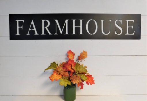 Farmhouse Sign, Metal Rustic Word Art Decor