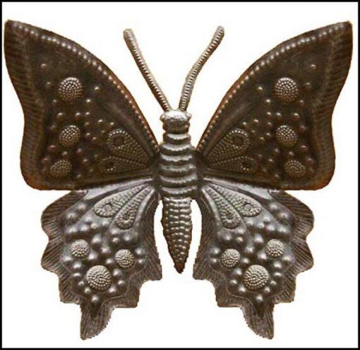 "Metal Butterfly Art, Decorative Metal Wall Hanging, 24"", Haitian Art, Recycled Steel Drum 21"" X 576-24"