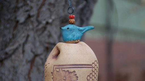 Large Ceramic Wind Chimes Handmade Pottery Gift