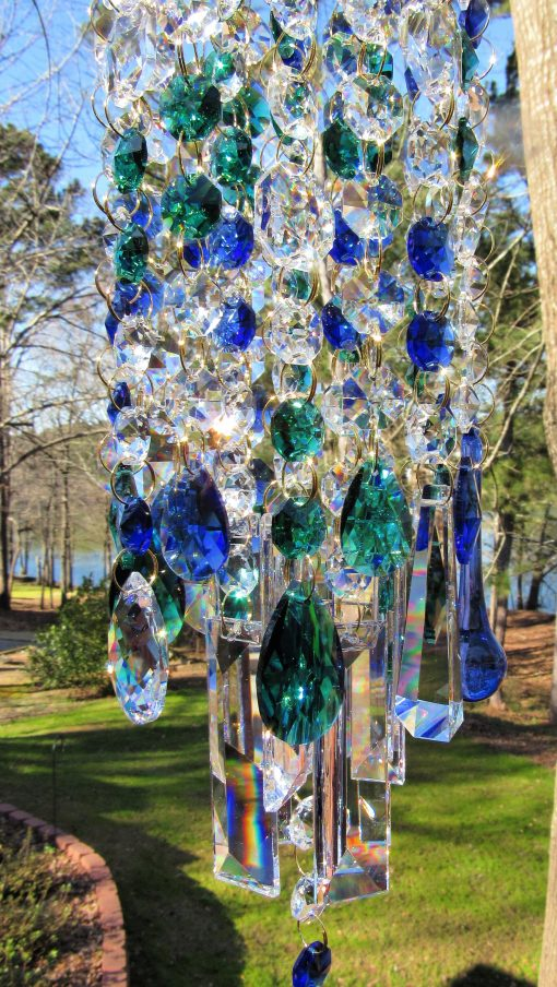 Garden Décor, Crystal Sun Catcher, Windchime, Glass Wind Chime, House Warming Gift, Gift For Her, Wc117