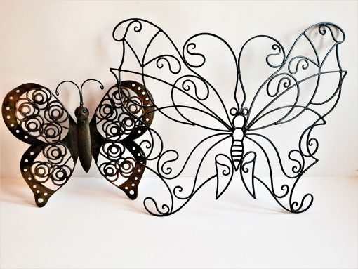 Large Vintage Butterfly Wall Art, Garden Sculpture, Butterfly, Country Farmhouse Décor, Home Patio Art