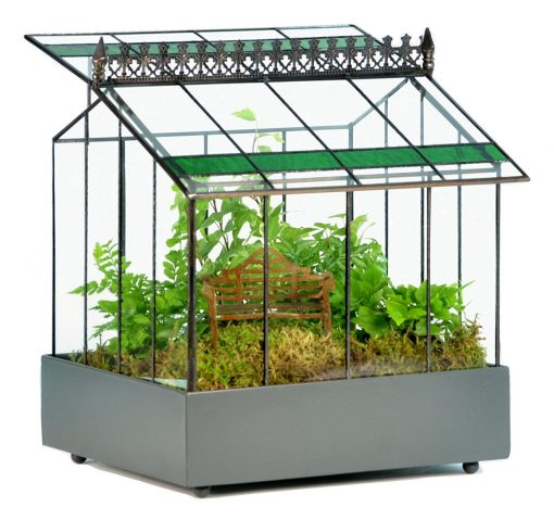 H Potter Terrarium Green Glass - Indoor Planter Wardian Case, Glasshouse Plant Container Fairy Garden, Holiday Mom