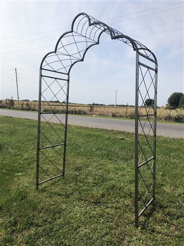 Cloud Metal Garden Arch, Flower Arbor, Outdoor Trellis, Wedding Archway, B, Décor, Lawn Yard Art, Arch