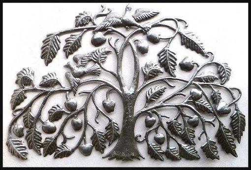 "Metal Home Decor, Metal Wall Art, Tree Hanging, Of Life - 34"", Haitian Steel Drum Decor 343"