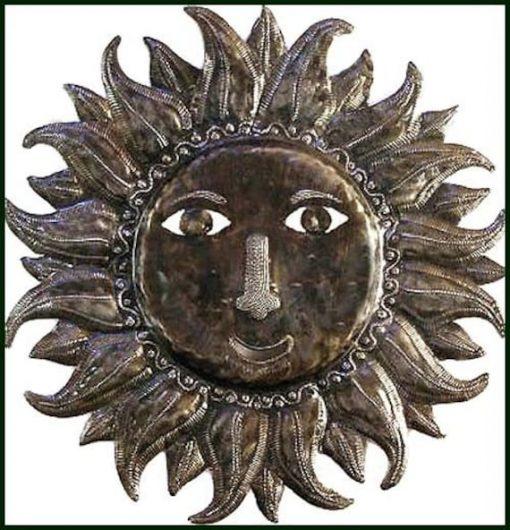 Sun Metal Art Wall Decor, Metal Art, Haitian Garden Sun, Outdoor Sun Art 732