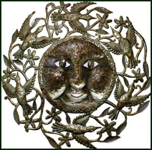 Outdoor Metal Art, Metal Sun, Garden Art, Outdoor Haitian Recycled Steel Drum, Wall Hanging, Decor, H731
